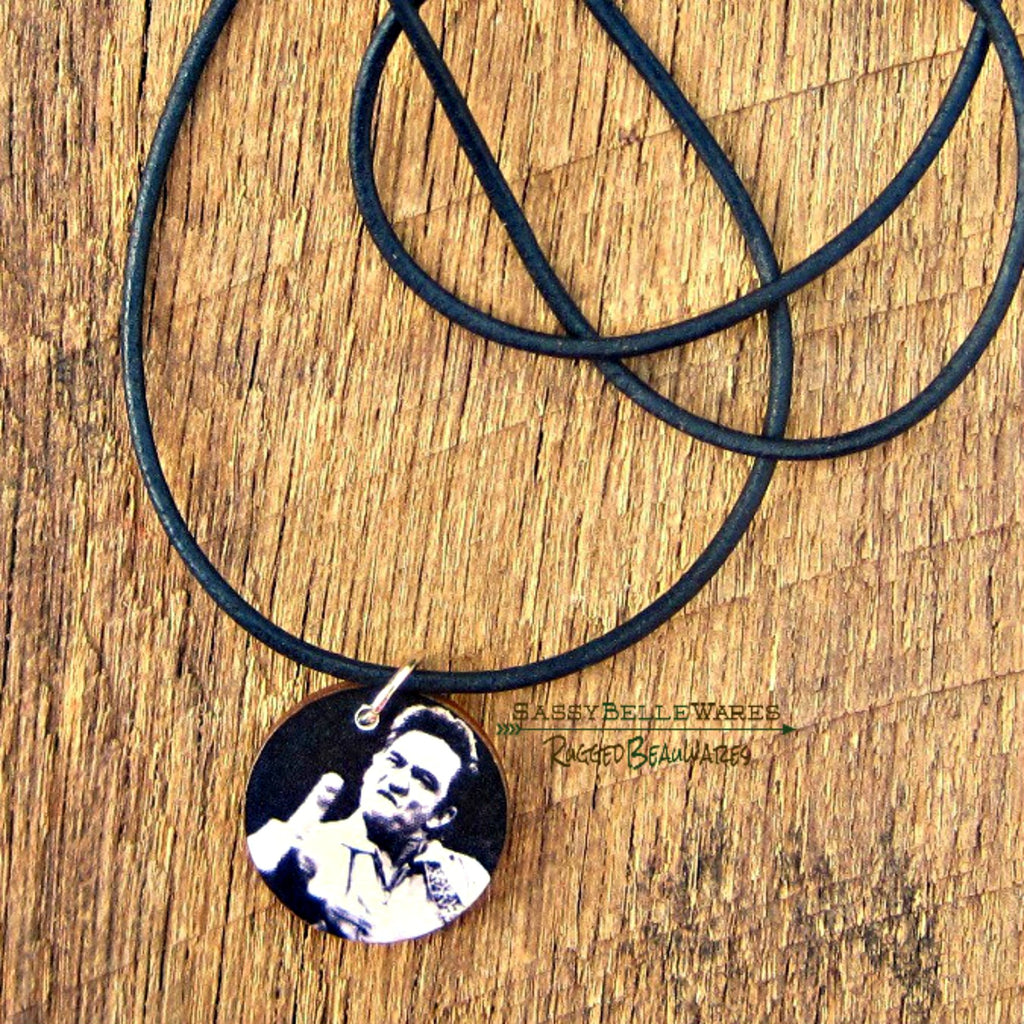 Country Music Legend Leather Necklace