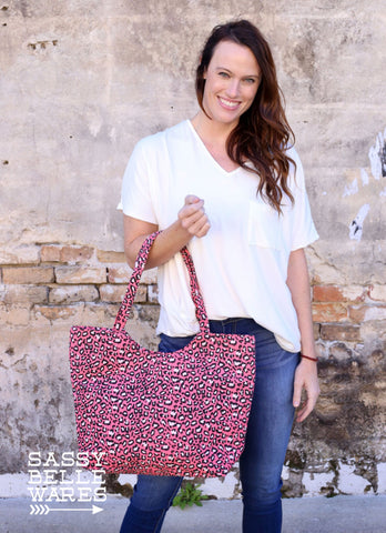Leopard Tote - Pink