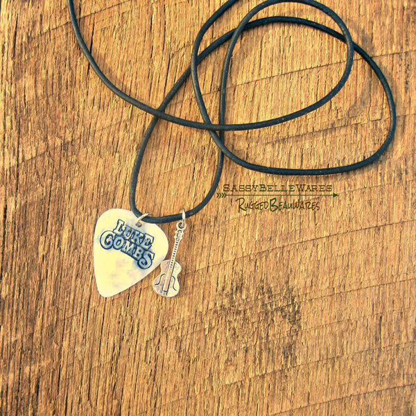 Your Guitar Pick Made Into a Leather Necklace
