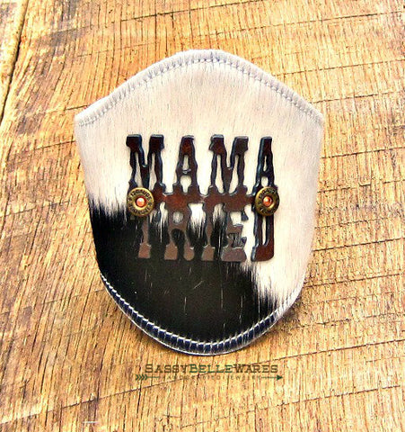 Mama Tried Leather Cowhide Cuff Bracelet