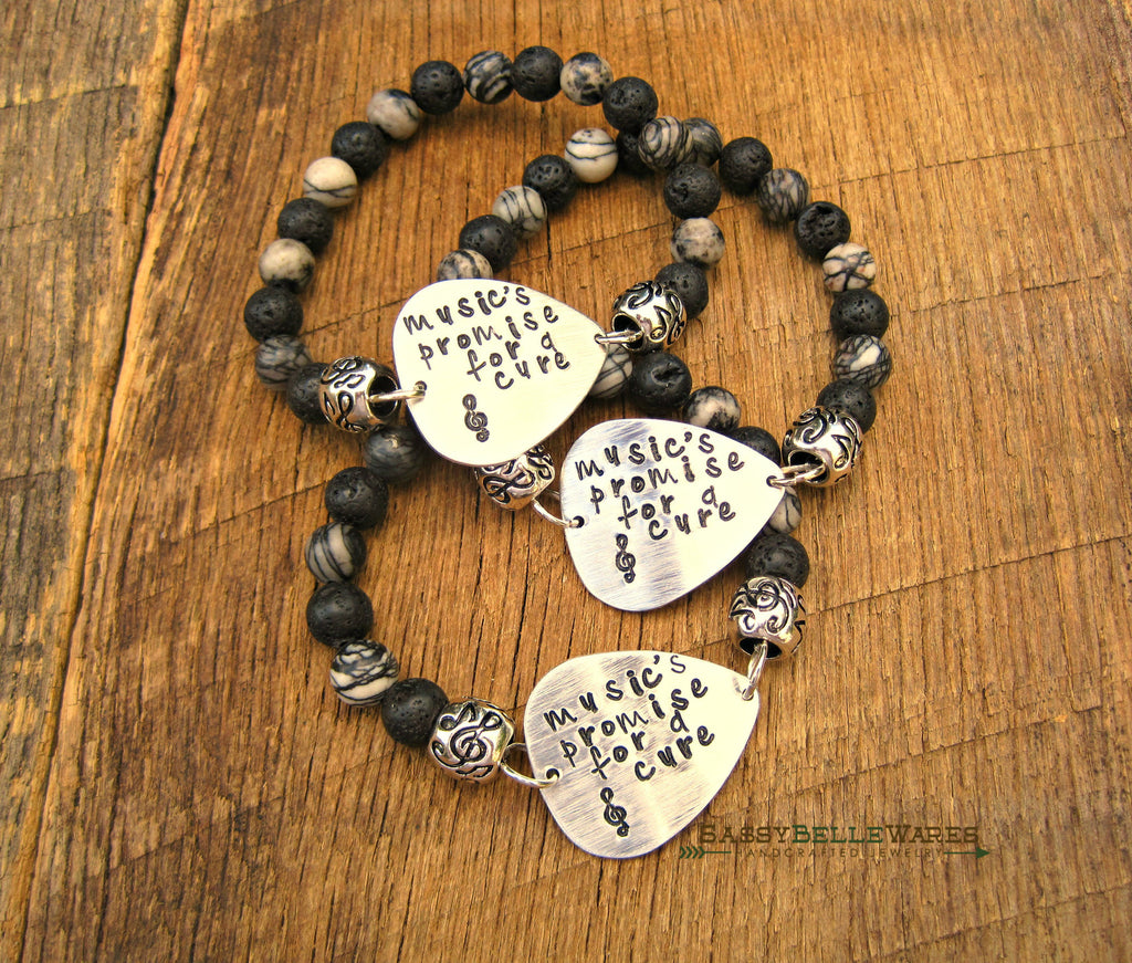 Music's Promise for a Cure Guitar Pick Bracelet