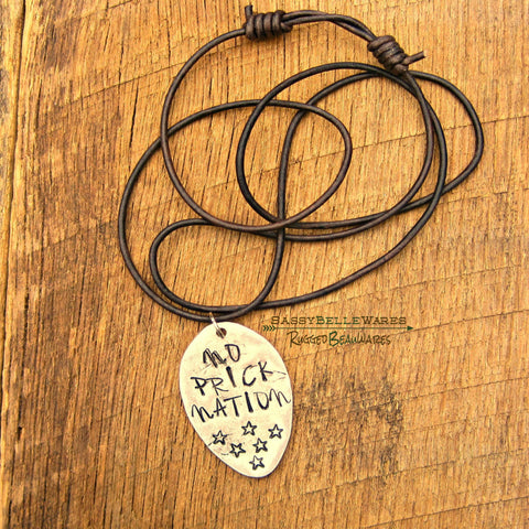 No Prick Nation Leather Necklace