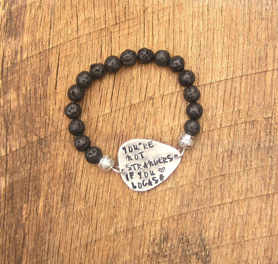 You're Not Strangers If You Love LOCASH Guitar Pick Bracelet