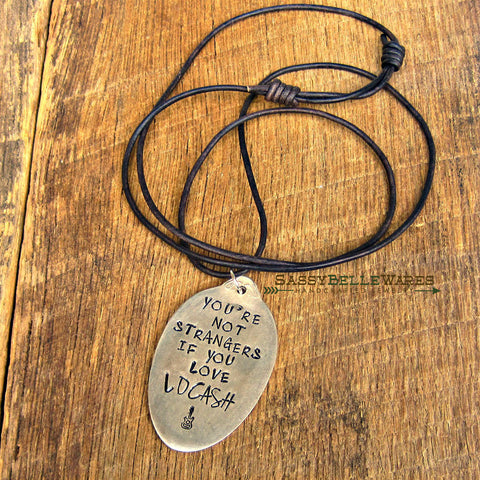 You're Not Strangers If You Love LOCASH Leather Necklace