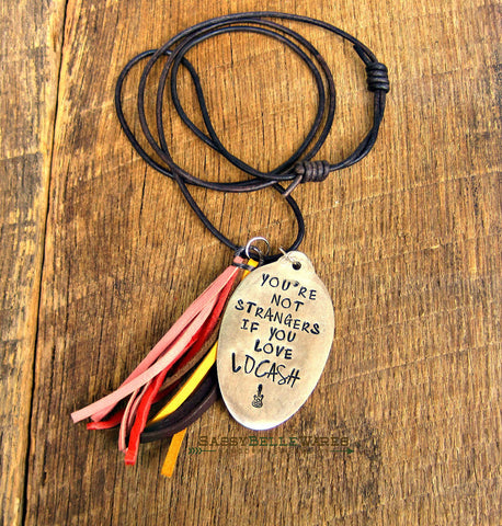 You're Not Strangers If You Love LOCASH Leather Tassel Necklace