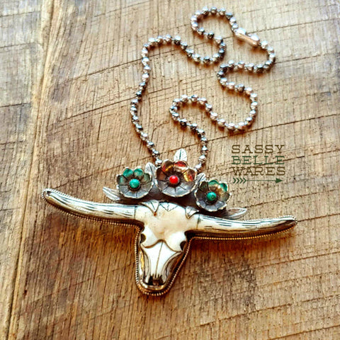 Longhorn Statement Necklace