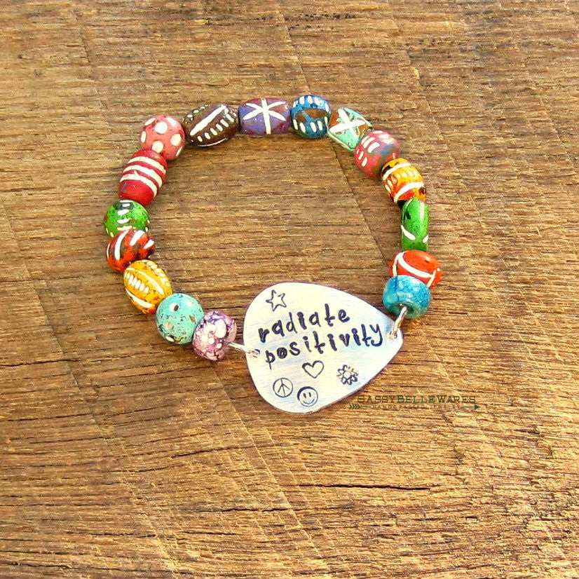Radiate Positivity Guitar Pick Bracelet