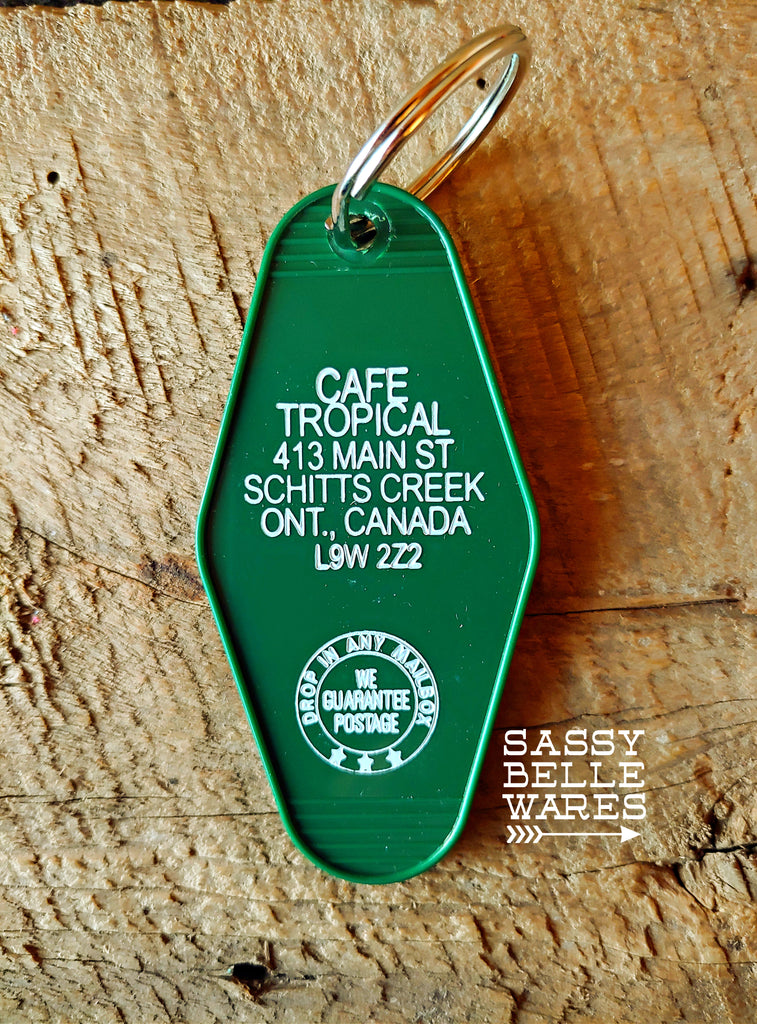 Cafe Tropical Key Ring