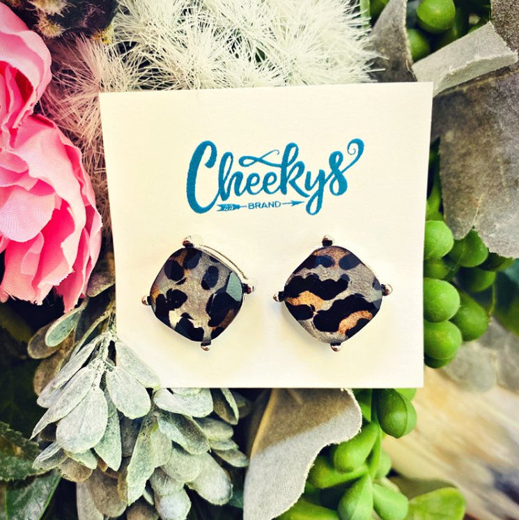 Snow Leopard Earrings