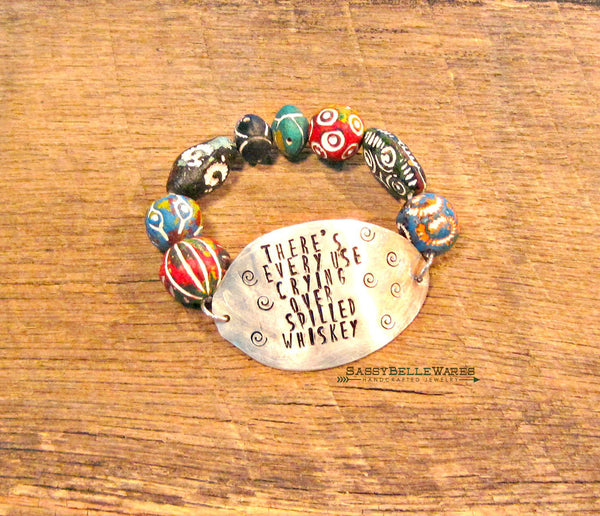 There's Every Use Crying Over Spilled Whiskey Spoon Bracelet