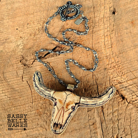 Longhorn Skull Necklace