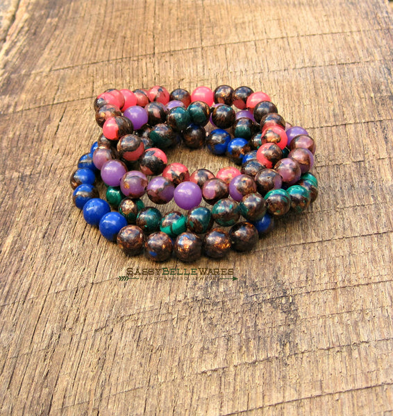As Seen On Stephanie Drapeau Jewel Tone Gemstone Bracelets Build Your Own Stack