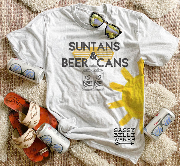 Suntans And Beer Cans Tee
