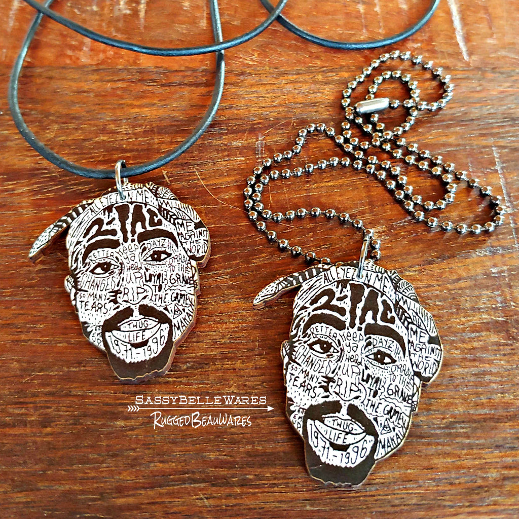 As Seen On Mike Pitts of Jukebox Rehab Tupac Necklace
