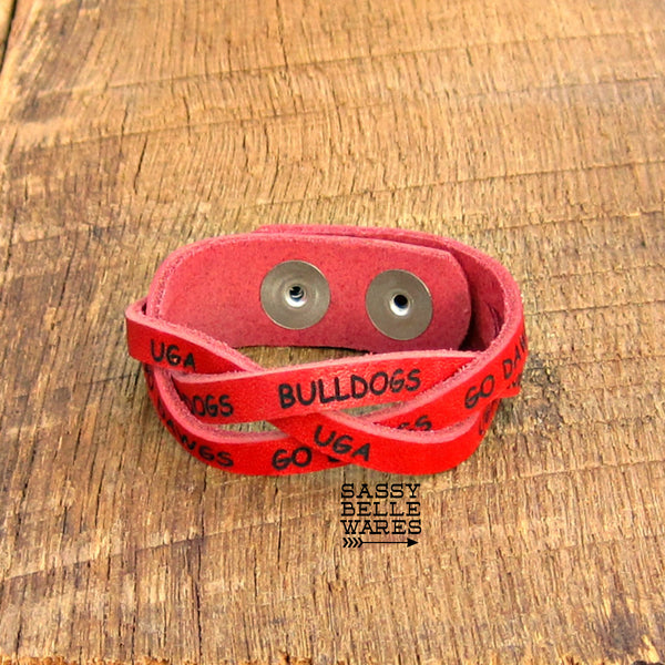 Bulldogs Leather Bracelet