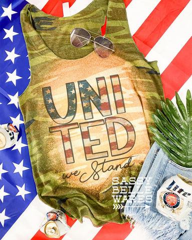 United We Stand Camo Tank