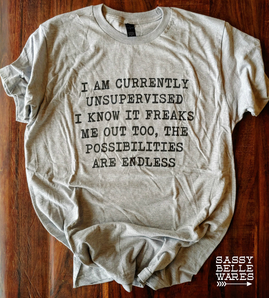 Currently Unsupervised Tee