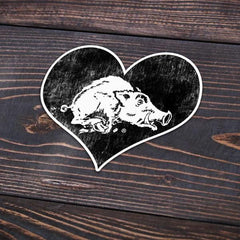80s Heart Hog Sticker