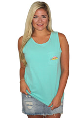 Beaver Lake Pocket Tank Top
