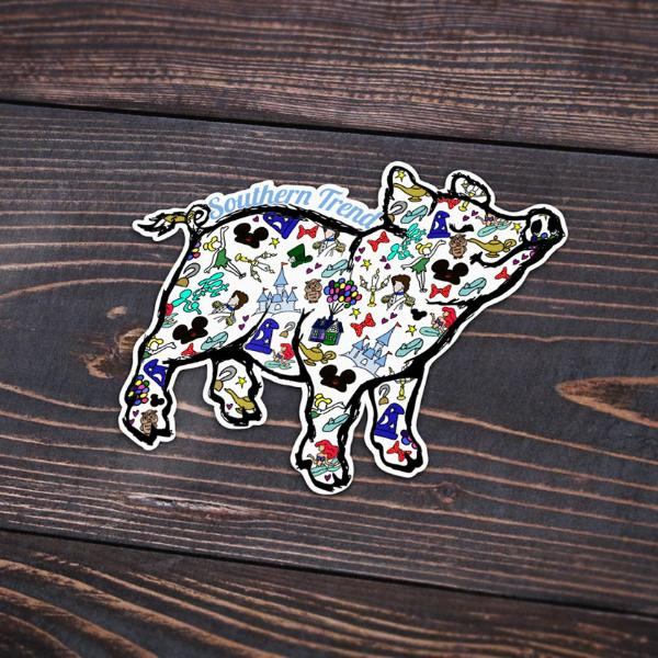 Once Upon A Pig Sticker