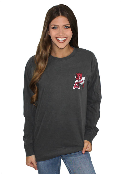 Hog Leaning on the 'A' Long Sleeve