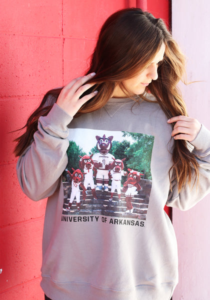 Mascots Family Photo Sweatshirt