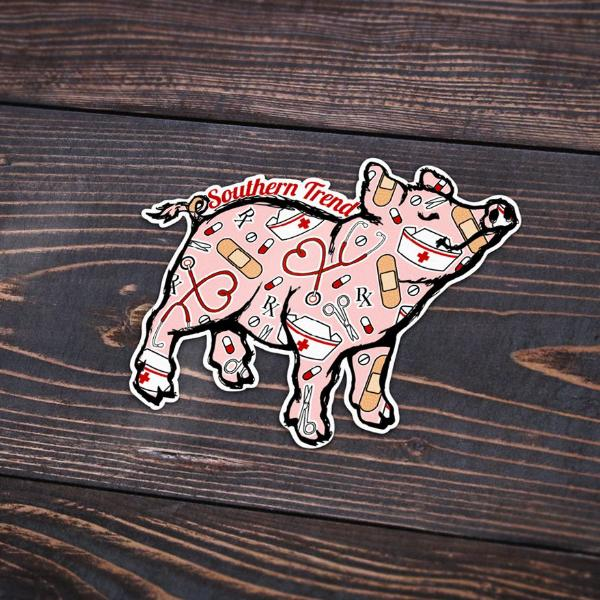 Nurse Pig Sticker