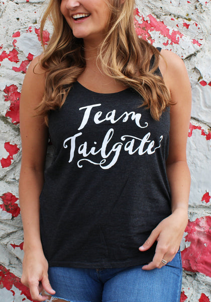 Black Team Tailgate Flowy Tank Top