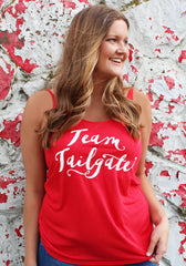 Red Team Tailgate Flowy Tank Top