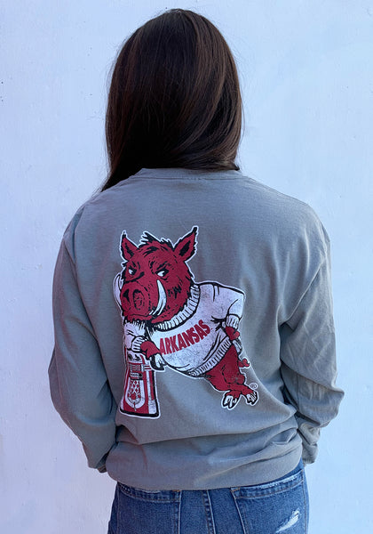 Hog Leaning on Jukebox Long Sleeve