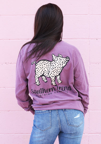 Cheetah Pig Long Sleeve
