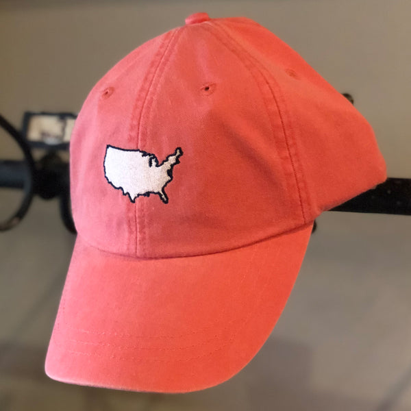 Coral USA Hat