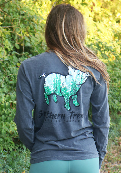 Evergreen Pig Long Sleeve