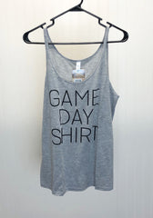 Game Day Flowy Tank Top - Grey