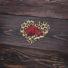 Leopard Heart 80s Hog Sticker