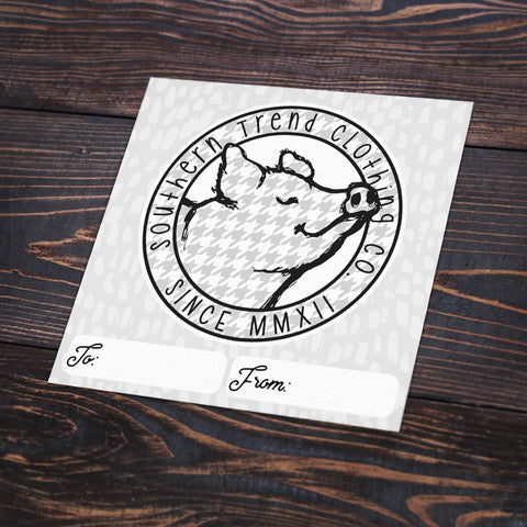 Houndstooth Pig Sticker