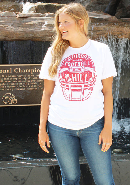 Football on the Hill Helmet T-Shirt