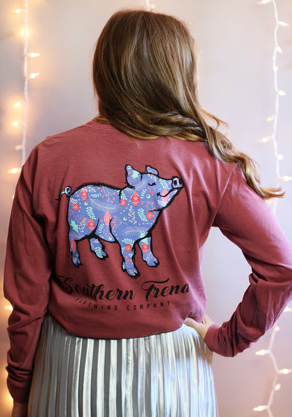 Ornament Pig Long Sleeve
