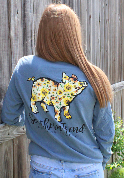 Sunflower Pig Long Sleeve
