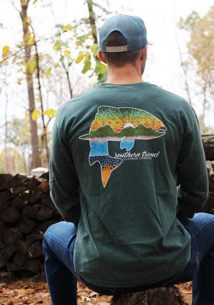 Triple Trout Long Sleeve T-shirt