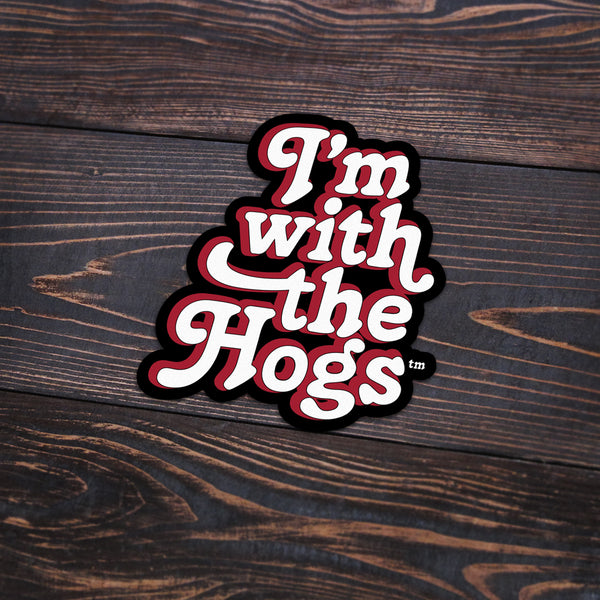 I'm With The Hogs Sticker