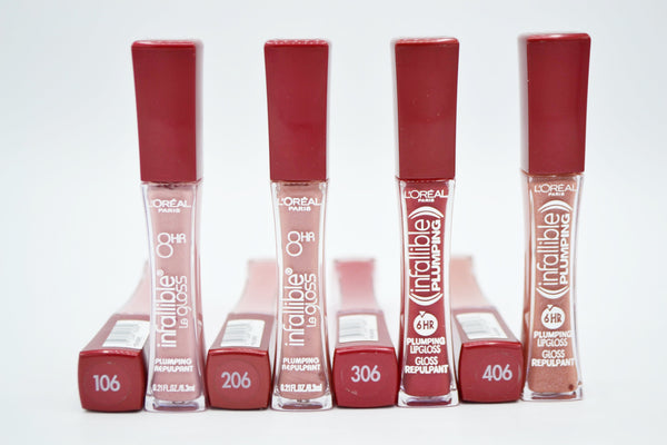 L'Oreal Infallible Lip Gloss (365 units, $1.50 each)