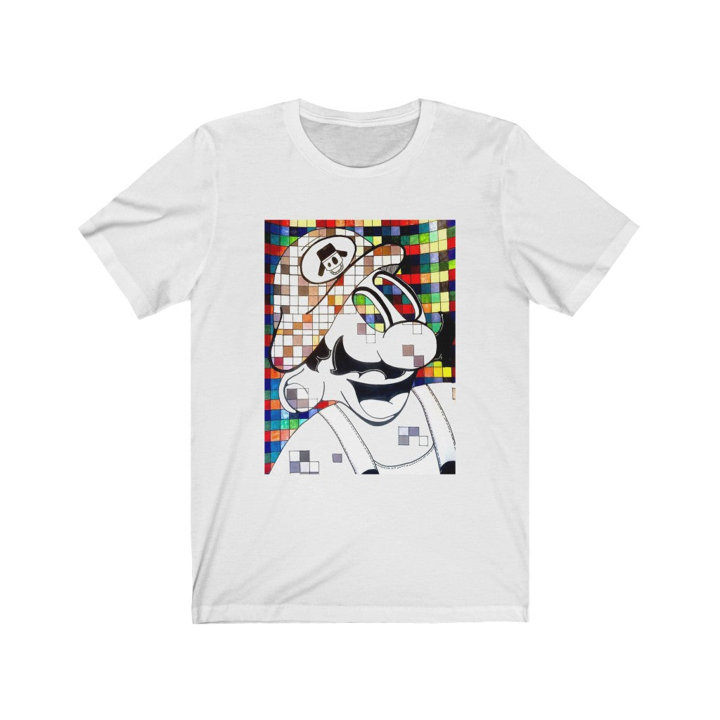 Glitched Short Sleeve Tee - White