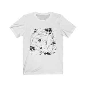 Black & White Floral Short Sleeve Tee