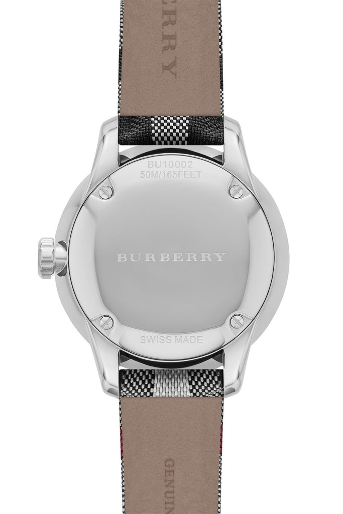 Burberry Unisex Swiss Honey Check Gold-Tone Fabric Strap Watch 40mm BU10001 - VintWatcher's