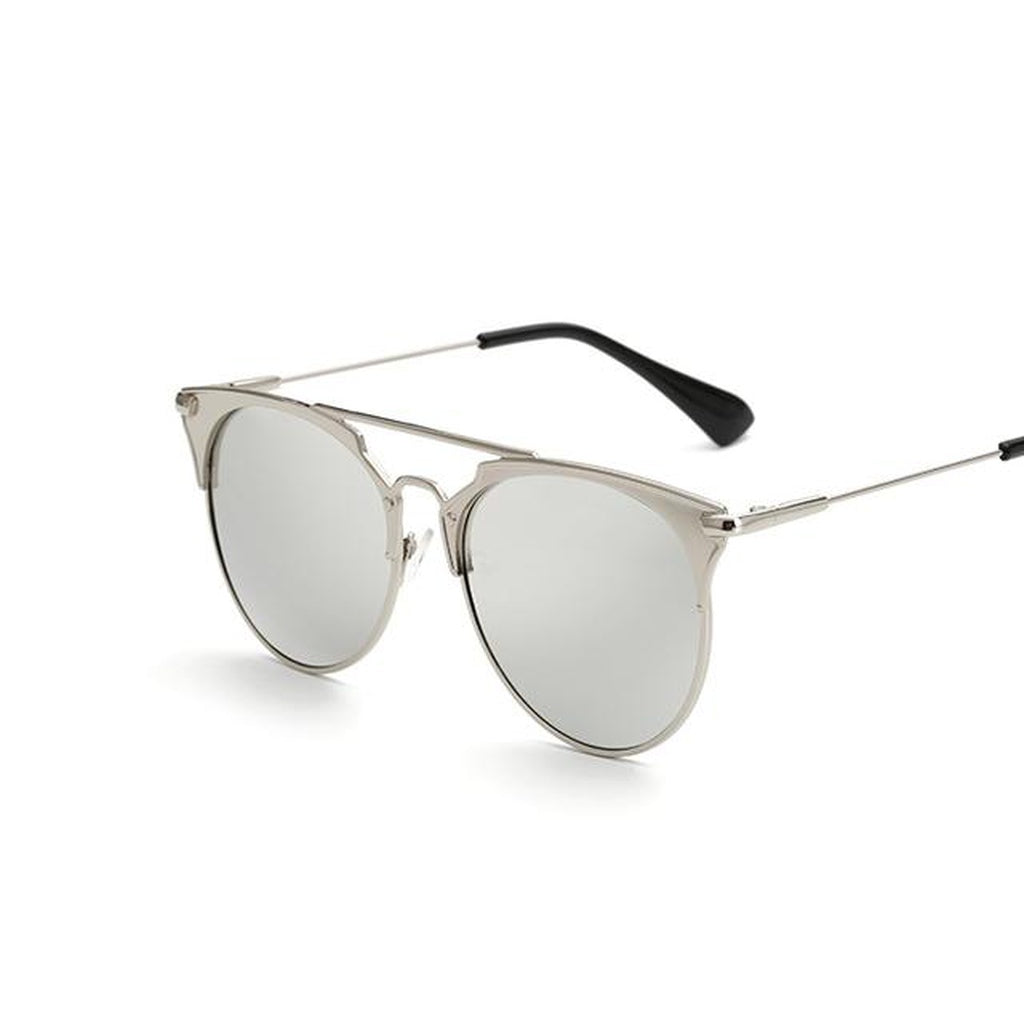 'Retro' Mirrored Lens Sunglasses