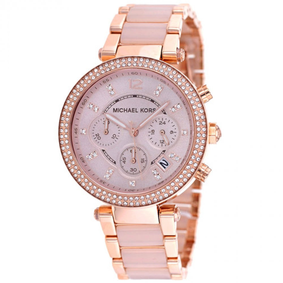 28ba67a92678 Michael Kors Women s Parker Blush and Rose Gold-Tone Watch MK5896