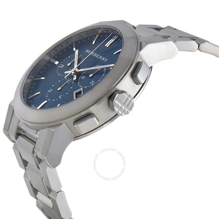 Burberry Watch The City Blue Dial Swiss Chronograph Brand New Men's Watch BU9363