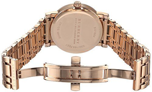 Burberry Watch Men Brand New Swiss Chronograph Dial Rose Gold Plated Watch BU9353