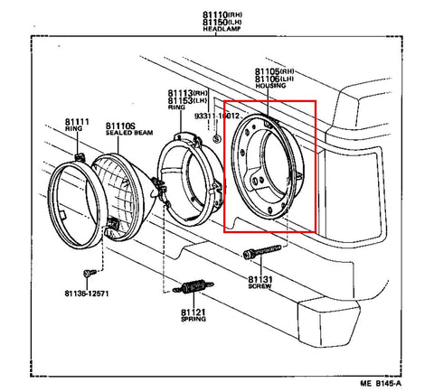 Hyundai Tucson 2 0 2004 Specs And Images also T12494860 Diagram passenger door panel removal furthermore How to fix and replace your 1st gen rear window together with Oem Headlight Housing For Land Cruiser Fj60 Set Of 2 in addition Brakes. on toyota 4runner parts diagram
